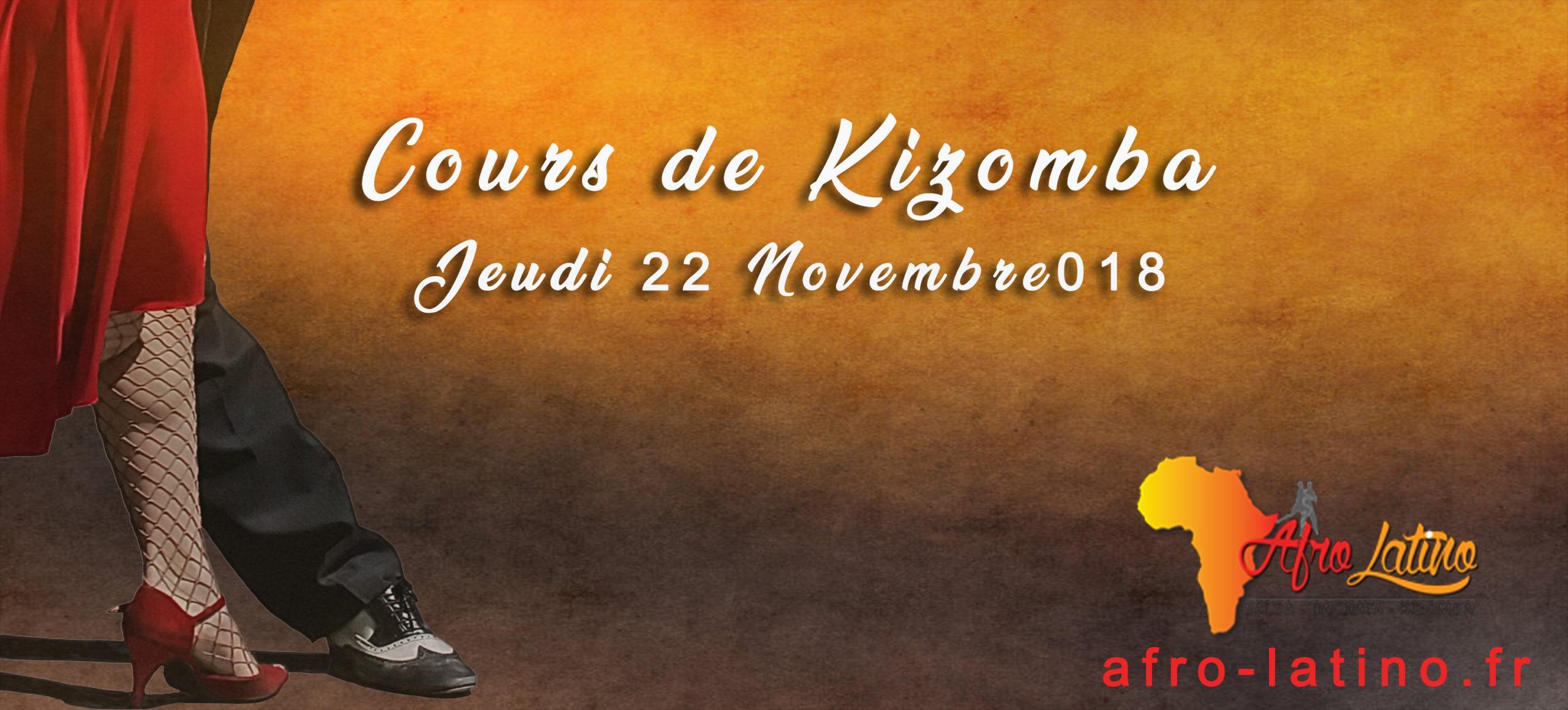 Cours de kizomba le 22 novembre 2018/2019!!!